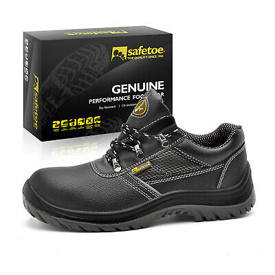 Safetoe Safety Work Shoes Mens Steel Toe Water Resistant Black Leather L-7222 US