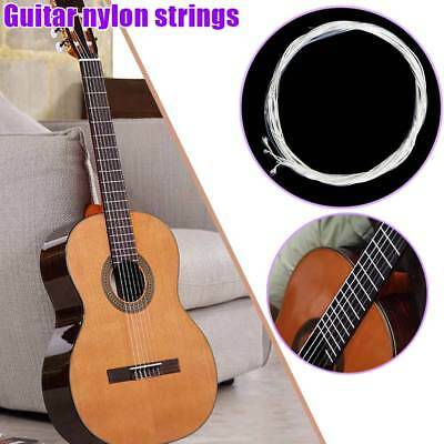 6pcs Classical Guitar Strings Set Classic Guitar Clear Nylon Strings