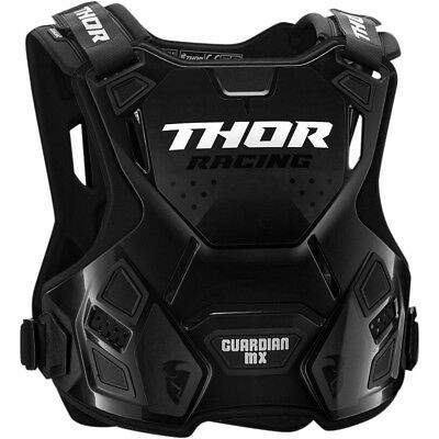 Thor Guardian Mx Chest Protector Black Body Armour Adult Md Lg Motocross Bmx Mtb