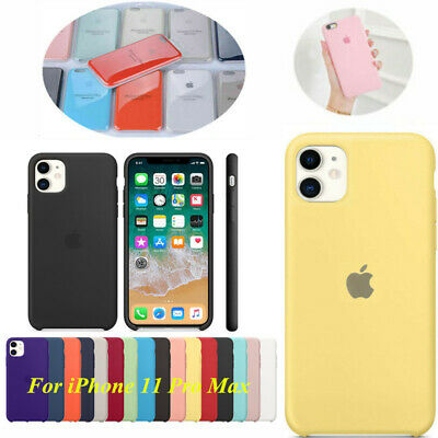 Custodia ufficiale originale silicone Cover per iPhone 11 Pro Max 6 6s 7 8 Plus