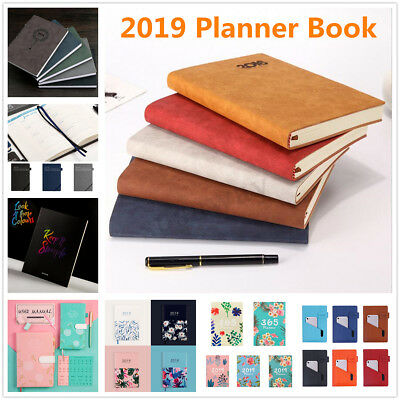 AU 2019 Planner Book A4 A5 A6 Schedule Month Year Diary Plan Notebook Work Study