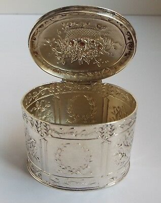 LOVELY CLEAN DUTCH ANTIQUE 19TH CENTURY c.1890 SOLID SILVER PEPPERMINT SNUFF BOX