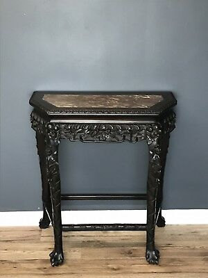 Antique Chinese Carved Hardwood Console Table