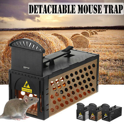 Rat Catcher Cage Mouse Trap Humane Large Live Animal Rodent Indoor Outdoor Big