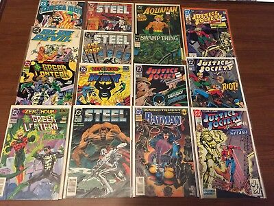 VINTAGE Lot of DC COMICS! Justice Society green lantern More Copper age 073