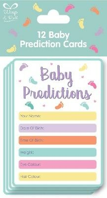 ** Baby Shower 12 Baby Prediction Cards Gender Reveal Boy Girl Party Game