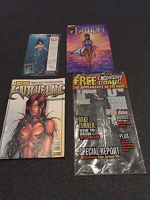 Wizard Comics Very Rare Witchblade Special Publication 1st Appearance Of Fathom