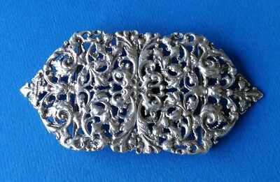 Silver Two Part Buckle Hallmarked Birmingham 1894. By Levi & Salaman.