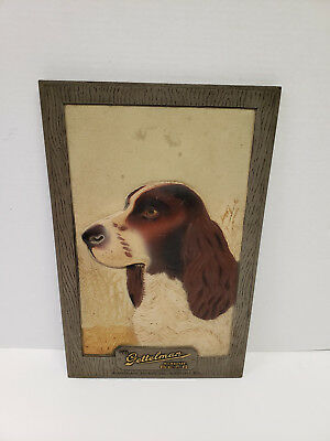 Gettelman beer sign with a dog, composition board, 1940's, Milwaukee Wisconsin