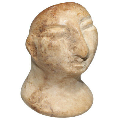 Museum Quality Circa 127 Bc Bactrian Stone Male Bust - Very Rare