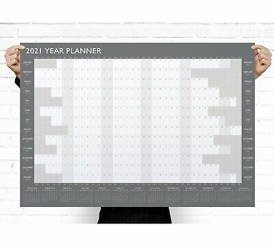 A1 Large 2019 Year Wall Planner ~ Yearly Annual Calendar Chart Size (G54)