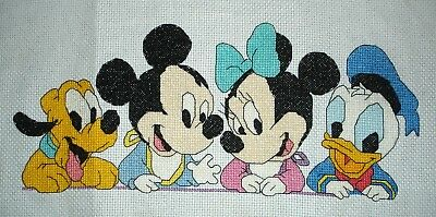 Completed Counted Cross Stitch Unframed Tapestry Picture Disney Characters
