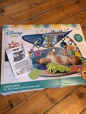 Disney Baby Gym Finding Nemo Dory, Mr. Ray Ocean Lights Activity Gym & Play Mat