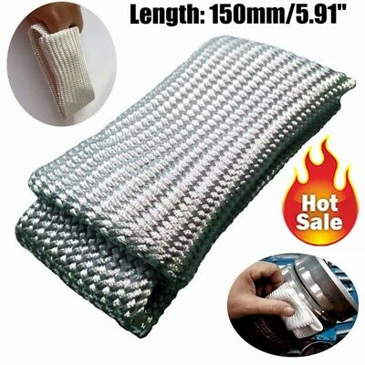 Beige TIG Finger Welding Gloves  Guard Heat Shield Heat Protection Gear