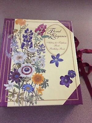 Floral Elegance Vintage (2 Book Set) Address & Telephone / Birthday Books