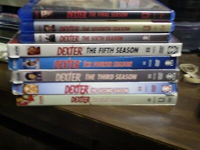 (8) Dexter Season Blu-Ray/DVD Lot: Dexter Seasons 1-8  Complete Series   Horror