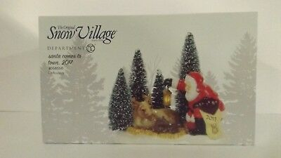 Dept 56 Snow Village Santa Comes To Town, 2017 Lit Accessory 4058550 MIP