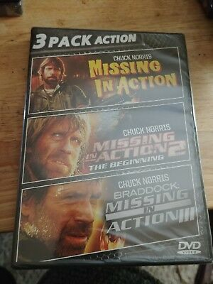 Chuck Norris (DVD) 3 Pack - Missing in Action, Missing in Action 2 & III NEW