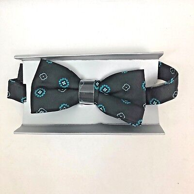 Joseph and Feiss Boys Bow Tie Black Teal M22388904 Brand New