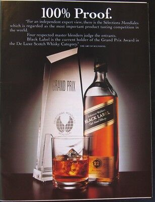 Johnnie Walker Black Label Print Ad from 1991