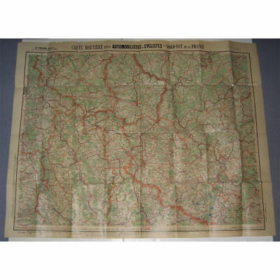 Carte Routiere Taride N°2,france Nord Est 1910-1920,autos,lorraine,luxembourg