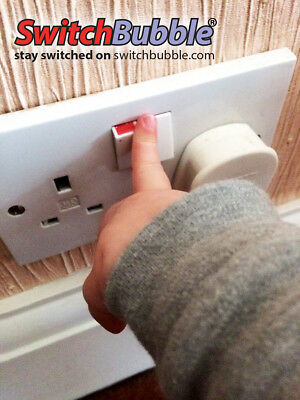 STOP LITTLE FINGERS FROM TURNING OFF SOCKETS!! RED or WHITE