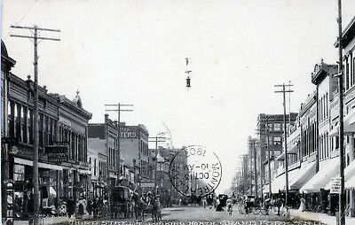 Grand Forks, North Dakota Third Street Looking North Vintage Photo Postcard 1907