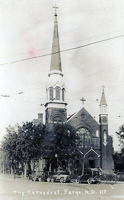 Fargo, North Dakota  The Cathedral  Vintage Real Photo Postcard