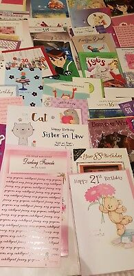 Wholesale JOB LOT OF 50 assorted   BIRTHDAY CARDS AND ENVELOPES