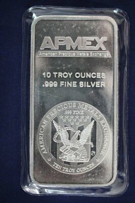 Apmex 10 oz .999 Fine Silver Bar - Sealed (#2)