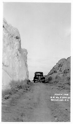 Devils Lake, North Dakota  U.S. No. 2 East of DL  Vintage Photo Postcard 1936