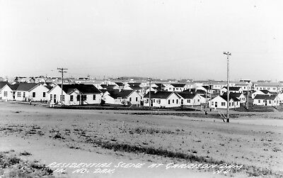 Garrison Dam, North Dakota  Residential Scene  Vintage Photo Postcard