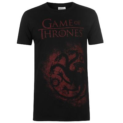 Game of Thrones Targaryen Spray T-Shirt Mens Black Tee shirt Tshirt Top