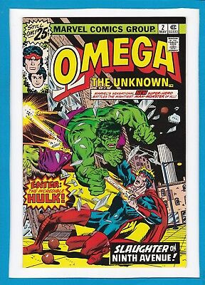 """Omega The Unknown #2_May 1976_Near Mint Minus_Hulk_""""slaughter On Ninth Avenue""""!"""