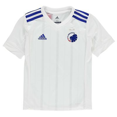 adidas FC Copenhagen Home Jersey 2017 2018 Juniors White Football Soccer Shirt