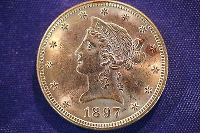 1897 $10 Ten Dollar US Liberty Head Eagle Gold Coin