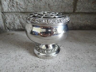 Lovely Vintage Silver Plated Large Rose Bowl