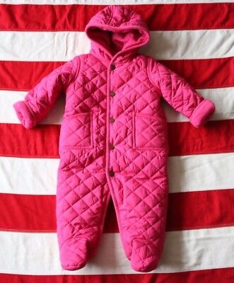 4d650581d Polo Ralph Lauren Pink Infant Girls 9 Months Quilted Snow Suit Bunting