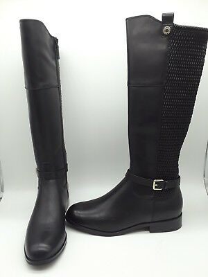 cd3f65dd527 COLE HAAN GALINA Women Shoes Black Leather Knee High Boots Sz 9.5 M ...