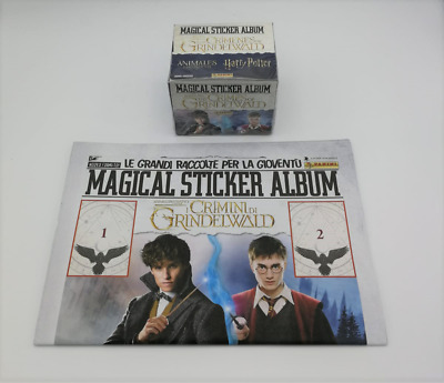 Harry Potter Animali Fantastici Crimini di Grindelwald Album vuoto + Box 50 b...