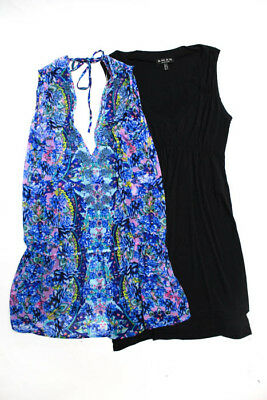 4b9940ab0f Juicy Couture Shan Womens Blouse Size 6 Extra Small Short Sleeve Black Lot 2