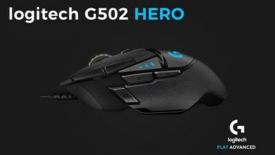 Logitech G502 HERO High Performance Gaming Mouse Brand New