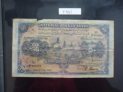 Banknote Egypt 50 Egyptian Pounds 1942        Y461