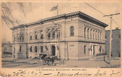 Rome, GEORGIA ~ US. Federal Building ~ vintage postcard posted 1907