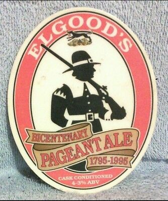 Elgoods Bicentenary Pageant Ale pump clip front