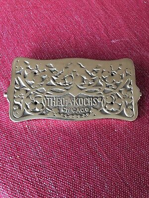 Barber Chair Theo A Kochs Swivel Foot Plate ** SOLID BRASS **