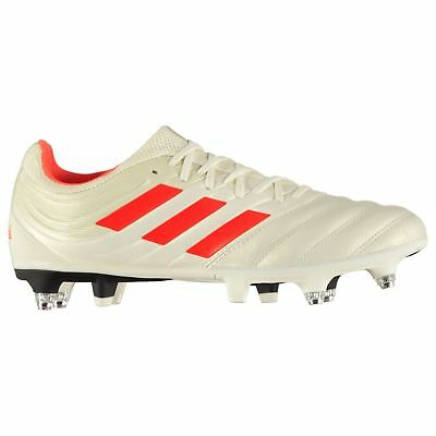 free delivery new high big sale ADIDAS COPA 19.3 Sg Chaussures Foot Terrain Souple Hommes Blanches/Rouge