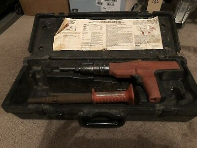 Remington 496 Powder Actuated Nail Gun Nailer Fastening Tool w/ Case .27 Cal