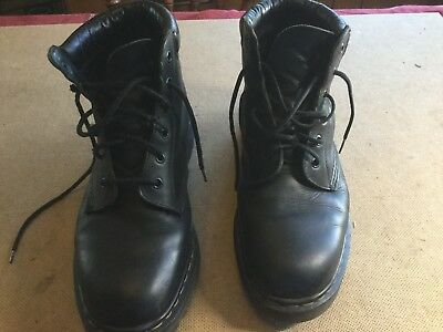 c0d8a336ee1 DR MARTENS MENS sz 10 black smooth leather 6-eye boots Doc Martens.