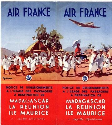 Air France Brochure Booklet Information On Travel To Madagascar Mauritius